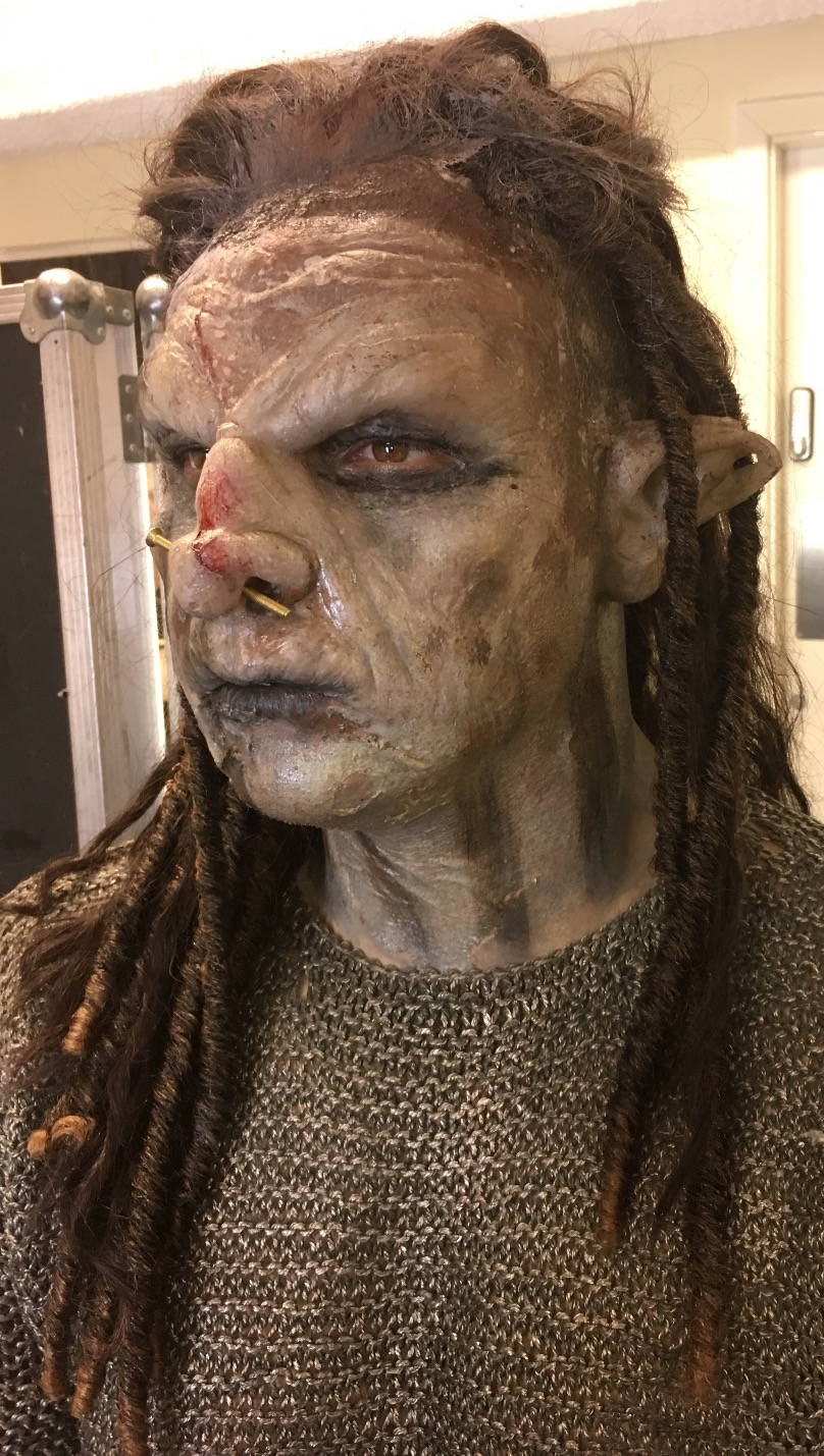 'Orc' makeup, Unilad advert
