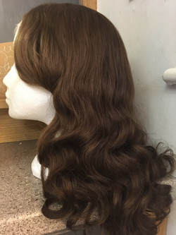 Wig styling Retro waves