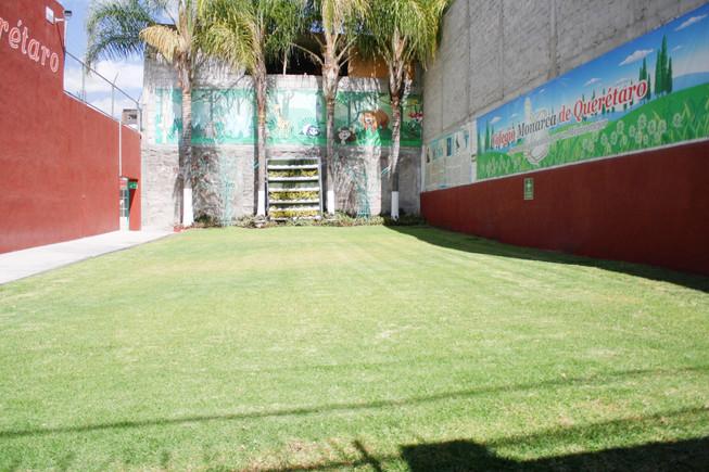 Área verde sección preescolar