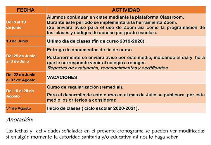CRONOGRAMA DE ACTIVIDADES FIN DE CURSO.j