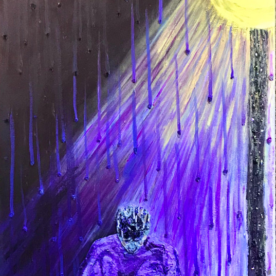 A Quiet Place in the Rain painting full.