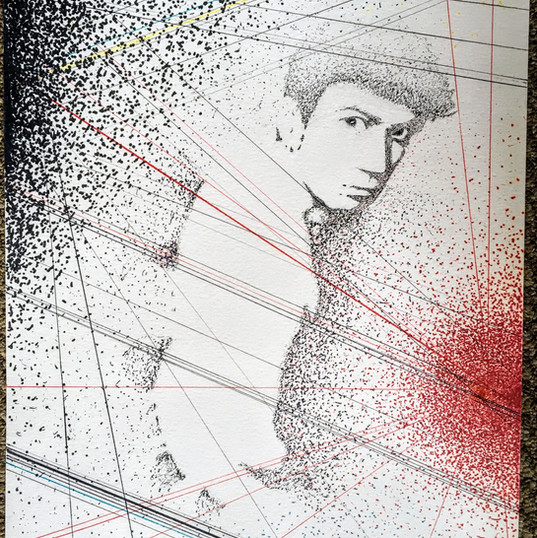 Extant Self-Portrait #1 Exposure 2016 ink