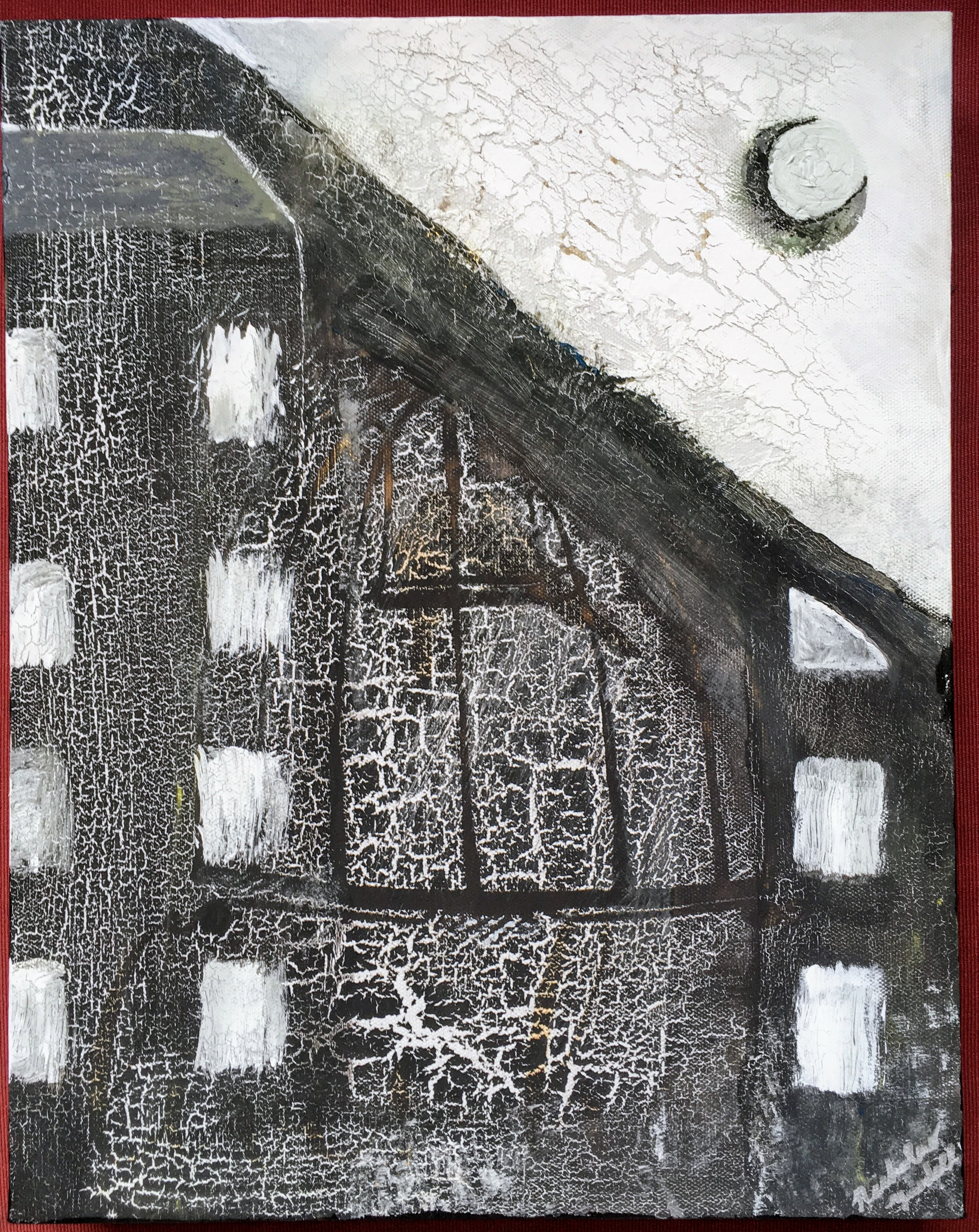 Furrowed Nocturne; 2015; acrylic