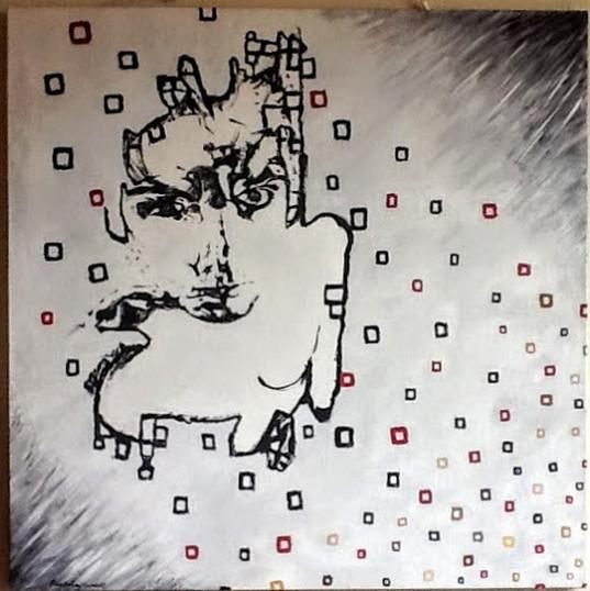Extant Self-Portrait #2 Erosion 2016 tempera