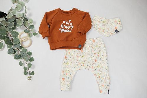 Set Sweater, Halstuch + Slim Harenpants