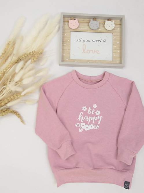 "Sweater altrosa""be happy"" Gr.86"