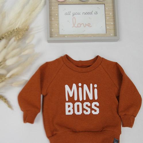 "Sweater terracotta ""Mini Boss"" Gr. 62"