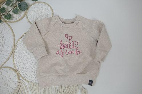 """Sweater hellbeige """"sweet as can be"""""""