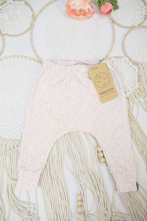 Slim Harem Pants rosa Punkte offwhite