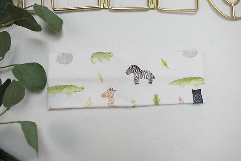Einfaches Stirnband KU 50 Zebra Kroko