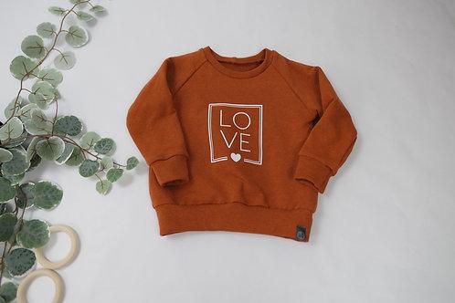 "Sweater Terracotta ""Love"""