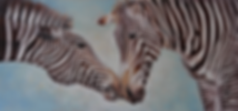 Large zebra oil painting