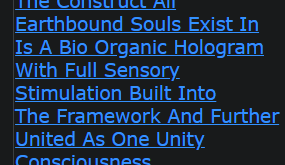 The Construct All Earthbound Souls Exist In Is A Bio Organic Hologram With Full Sensory Stimulation