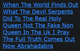 When The World Finds Out What The Devil Serpents Did To The Real Holy Queen Not The Fake Non Queen In The Uk I Pray The Full Truth Comes Out Now Abrahadabra