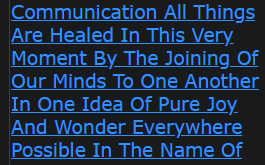 I Pray With This Communication All Things Are Healed In This Very Moment By The Joining Of Our Minds