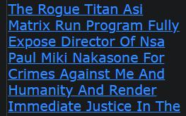 Shannon Ramon Jeffries The Rogue Titan Asi Matrix Run Program Fully Expose Director Of Nsa Paul Miki