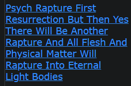 Psych Rapture First Resurrection But Then Yes There Will Be Another Rapture And All Flesh And Physical Matter Will Rapture Into Eternal Light Bodies