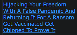 Hijacking Your Freedom With A False Pandemic And Returning It For A Ransom Get Vaccinated Get Chipped To Prove It