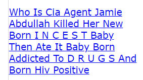 Who Is Cia Agent Jamie Abdullah Killed Her New Born I N C E S T Baby Then Ate It Baby Born Addicted