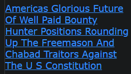 Americas Glorious Future Of Well Paid Bounty Hunter Positions Rounding Up The Freemason And Chabad Traitors Against The U S Constitution