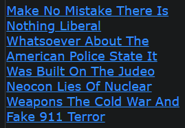 Make No Mistake There Is Nothing Liberal Whatsoever About The American Police State It Was Built On The Judeo Neocon Lies Of Nuclear Weapons The Cold War And Fake 911 Terror