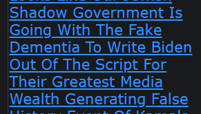 Looks Like Our Jewish Shadow Government Is Going With The Fake Dementia To Write Biden Out
