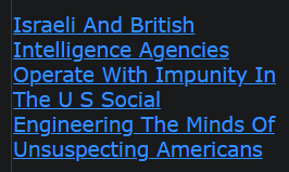 Israeli And British Intelligence Agencies Operate With Impunity In The U S Social Engineering The Minds Of Unsuspecting Americans