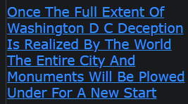 Once The Full Extent Of Washington D C Deception Is Realized By The World The Entire City