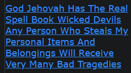 God Jehovah Has The Real Spell Book Wicked Devils Any Person Who Steals My Personal Items And Belongings Will Receive Very Many Bad Tragedies