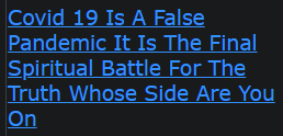 Covid 19 Is A False Pandemic It Is The Final Spiritual Battle For The Truth Whose Side Are You On