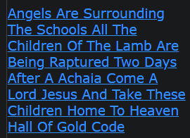 Angels Are Surrounding The Schools All The Children Of The Lamb Are Being Raptured Two Days After A Achaia Come A Lord Jesus And Take These Children Home To Heaven Hall Of Gold Code