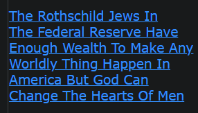 The Rothschild Jews In The Federal Reserve Have Enough Wealth To Make Any Worldly Thing Happen In America But God Can Change The Hearts Of Men