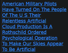 American Military Pilots Have Turned On The People Of The U S Their Relentless Artificial Cloud Production Is A Rothschild Ordered Psychological Operation To Make Our Skies Appear To Be Artificial (all these devils are now being exposed)