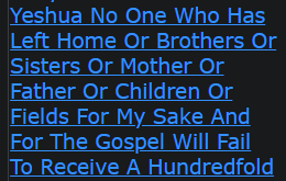 Truly I Tell You Said Yeshua No One Who Has Left Home Or Brothers Or Sisters Or Mother Or Father