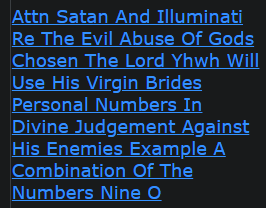 Attn Satan And Illuminati Re The Evil Abuse Of Gods Chosen The Lord Yhwh Will Use His Virgin Brides Personal Numbers In Divine Judgement Against His Enemies Example A Combination Of The Numbers Nine O