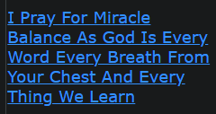 I Pray For Miracle Balance As God Is Every Word Every Breath From Your Chest And Every Thing We Learn