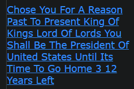 Chose You For A Reason Past To Present King Of Kings Lord Of Lords You Shall Be The President Of United States Until Its Time To Go Home 3 12 Years Left