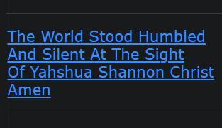 The World Stood Humbled And Silent At The Sight Of Yahshua Shannon Christ Amen