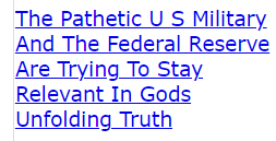 The Pathetic U S Military And The Federal Reserve Are Trying To Stay Relevant In Gods