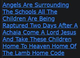 Angels Are Surrounding The Schools All The Children Are Being Raptured Two Days After A Achaia Come A Lord Jesus And Take These Children Home To Heaven Home Of The Lamb Home Code