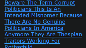 Beware The Term Corrupt Politicians This Is An Intended Misnomer Because There Are No Genuine