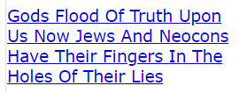 Gods Flood Of Truth Upon Us Now Jews And Neocons Have Their Fingers In The Holes Of Their Lies