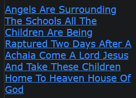 Angels Are Surrounding The Schools All The Children Are Being Raptured Two Days After A Achaia Come A Lord Jesus And Take These Children Home To Heaven House Of God