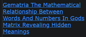 Gematria The Mathematical Relationship Between Words And Numbers In Gods Matrix Revealing Hidden Meanings