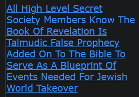 All High Level Secret Society Members Know The Book Of Revelation Is Talmudic False Prophecy Added On To The Bible To Serve As A Blueprint Of Events Needed For Jewish World Takeover