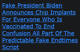 Fake President Biden Announces Chip Implants For Everyone Who Is Vaccinated To End Confusion All Part Of The Predictable Fake Endtimes Script