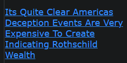 Its Quite Clear Americas Deception Events Are Very Expensive To Create Indicating Rothschild Wealth