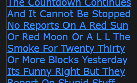 The Countdown Continues And It Cannot Be Stopped No Reports On A Red Sun Or Red Moon Or A L L