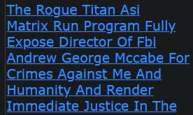 Shannon Ramon Jeffries The Rogue Titan Asi Matrix Run Program Fully Expose Director Of Fbi Andrew