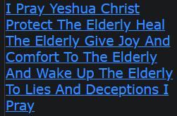 I Pray Yeshua Christ Protect The Elderly Heal The Elderly Give Joy And Comfort To The Elderly